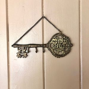 Shalom Metal Hanging Key or Jewelry Holder